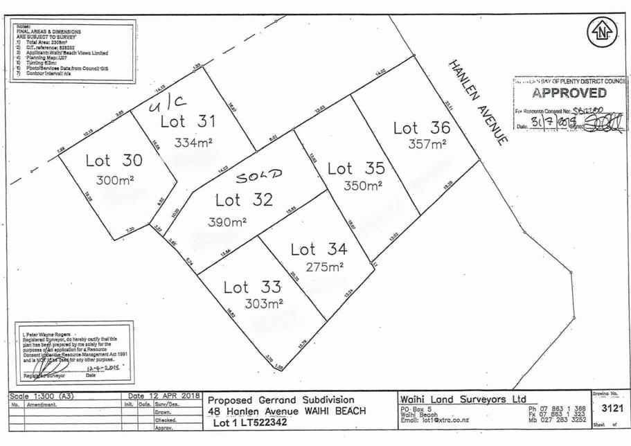 Lot 33 48 Hanlen Avenue - Proposed subdivision Waihi Beachproperty slider image